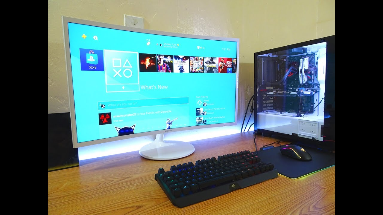 Curved Vs Flat Tv >> Curved Vs Flat Monitor Youtube