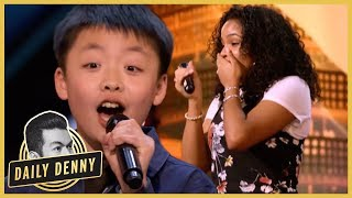 AGT: Simon Cowell Vows to Buy 13 Year Old Singer a Dog, Mel B Hits Golden Buzzer | Daily Denny thumbnail