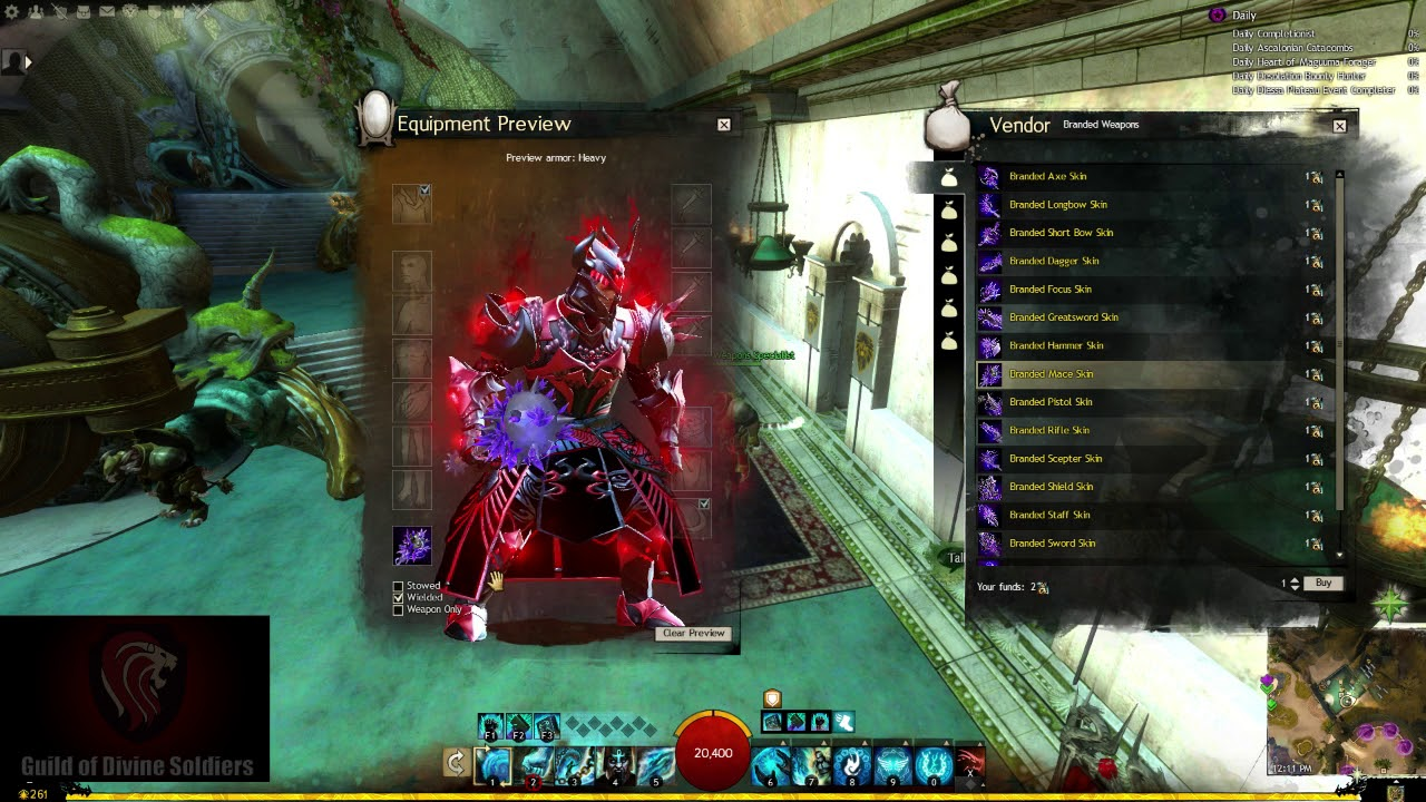 Guild Wars 2 - Branded Weapon Skin Previews