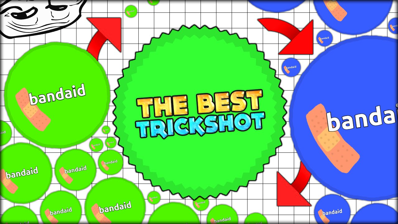 epic agar io gameplay the best virus trickshot of the agario