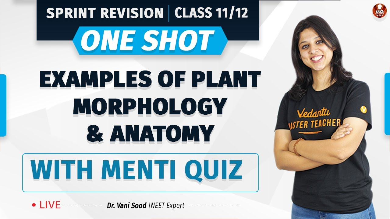 Plant Morphology and Anatomy Examples- One Shot | Sprint Revision Class 11/12 | NEET 2022 | Vedantu