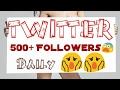 Twitter Free followers 500+ daily/Twitter auto followers