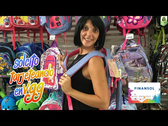 MOCHILAS: Solcito con tips de cómo elegirlas y comprarlas en 6 cuotas sin interés con Finansol