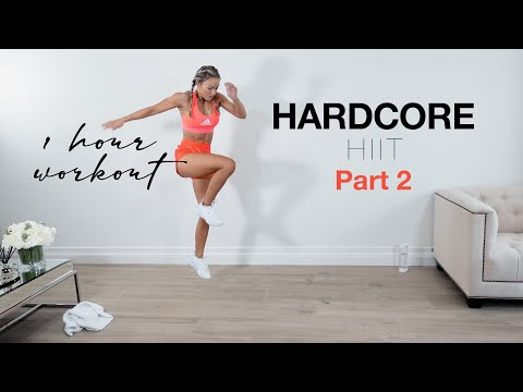 HARDCORE HIIT PART II - Full Body Workout at Home | 1 HOUR