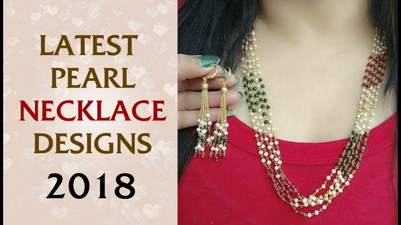 1cf49e485 Latest Pearl Jewellery Designs 2018: Light weight Pearl Necklace Designs -  Abdesigns