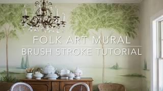 Folk Art Mural   Brush Stroke Tutorial