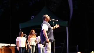 "Dave Hollister Performing ""Spend the Night"" at Summerstage 2014"