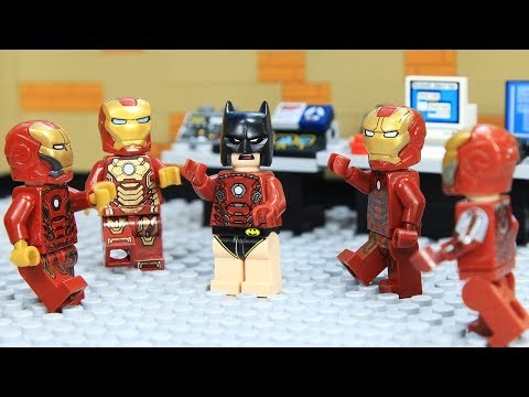 Lego IRON MAN's ARMOR was Stolen by BATMAN