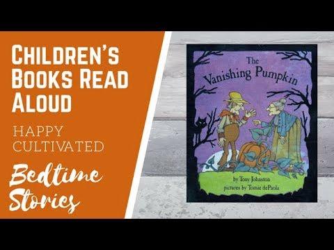the vanishing pumpkin book read aloud halloween books for kids halloween story