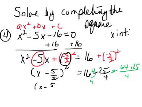 All Worksheets » Completing The Square Worksheets - Free Printable ...
