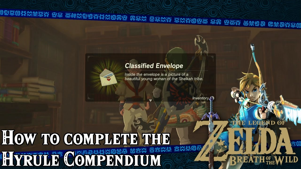 Completing The Hyrule Compendium The Legend Of Zelda Breath Of The Wild Youtube