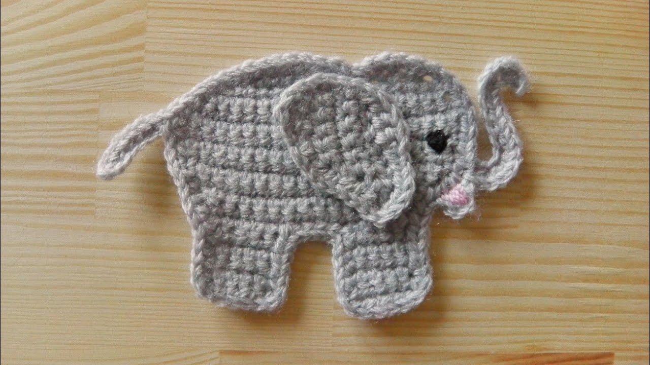 Elefant Aufnäher Häkeln Für Linkshänder Youtube