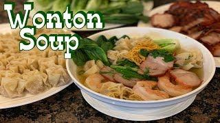 Wonton Noodle Soup - How to cook Wonton Soup - Wonton noodle soup recipe - English Ver.
