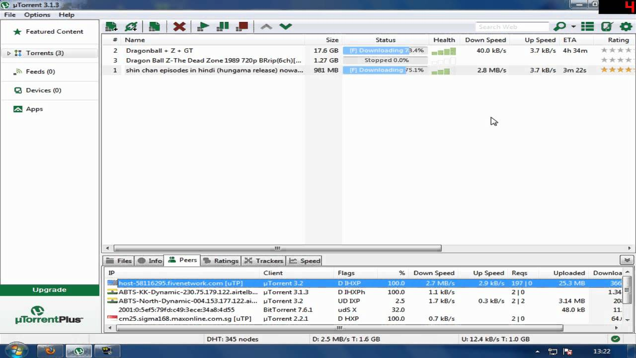 1-3 mbps Utorrent download speed :) - YouTube