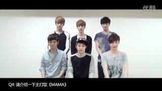 EXO-M MAMA Official Interview