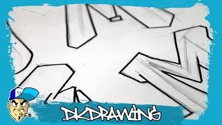 Graffiti Alphabets Letter M - Buchstabe M - Letra M
