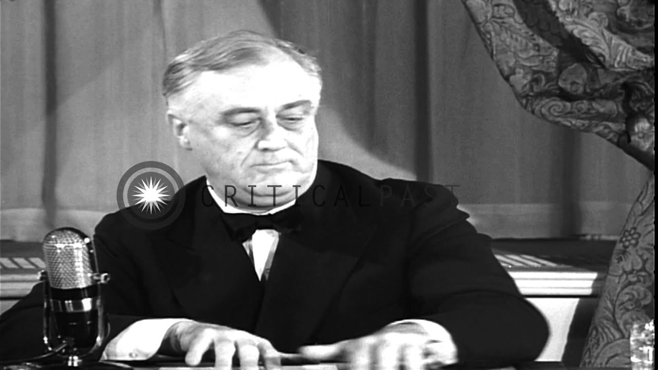 us president franklin roosevelt s great arsenal of democracy speech hd stock footage youtube