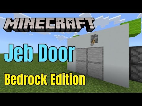 Minecraft Bedrock | Jeb Door Tutorial