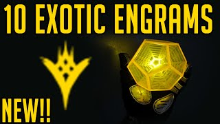 Destiny Opening 10 Taken King Exotic Engrams!