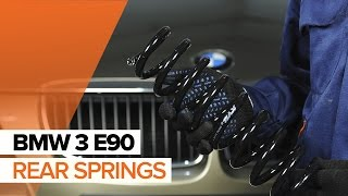 How to solve the problem with BMW rear left right Suspension springs: video guide
