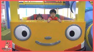 타요 키즈 카페 어린이 자동차 놀이 미니 간다 ♡ 타요버스 색칠공부 Tayo kids cafe toys тайо автобус Игрушки | 말이야와아이들 MariAndKids