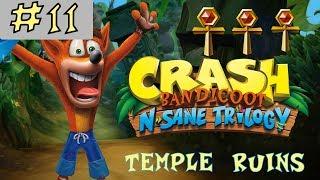 Crash Bandicoot N. Sane Trilogy - GOLD RELIC - Temple Ruins - Level 11 [GUIDE]