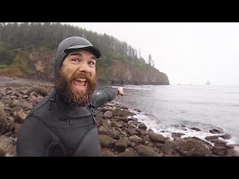 Prindle Brothers Surf 'n Spelunk at Cape Meares Oregon