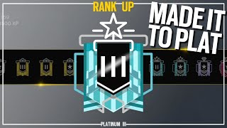 Copper to Diamond: The Plat Match - Rainbow Six Siege