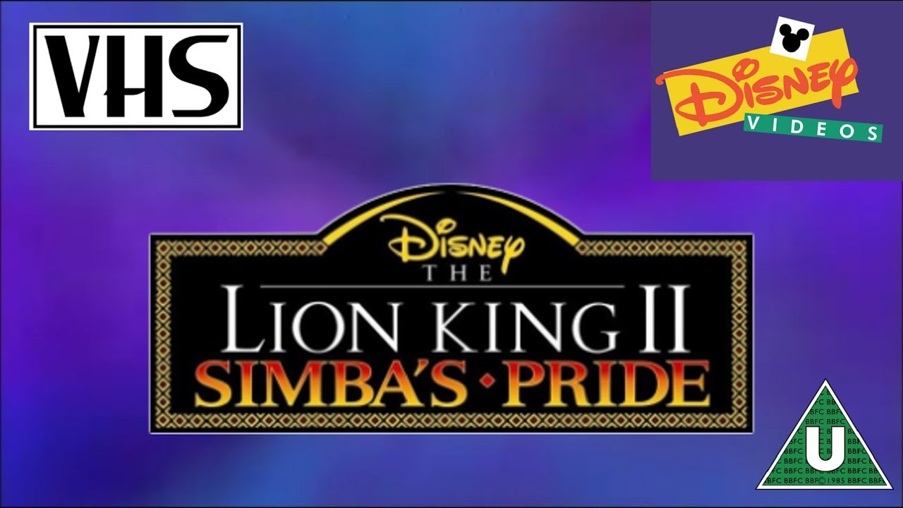 opening to the lion king ii  simba u0026 39 s pride uk vhs  1999