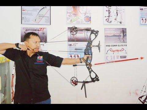 compound bow M122 caesar testing by Archery Bukittinggi