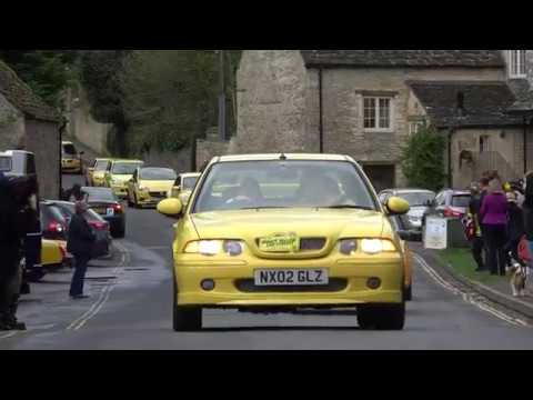 Yellow cars descend on Cotswold village in support of local