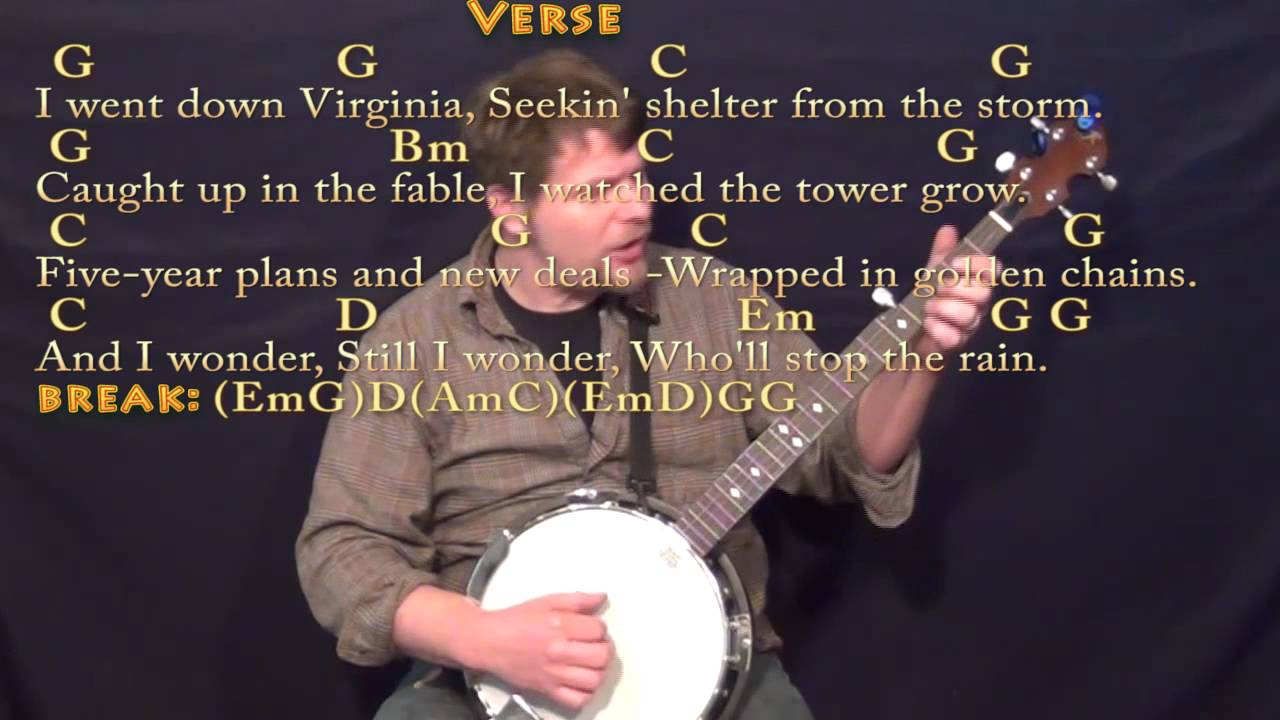 Wholl Stop The Rain Ccr Banjo Cover Lesson With Chordslyrics
