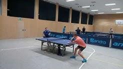 Tischtennis-Turnier | Oberaula 2020 | Halbfinale offene Klasse | N. Riedemann vs. A. Schnabel