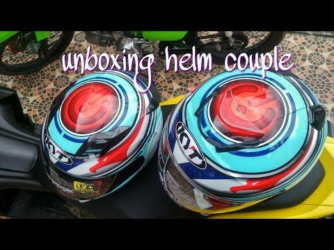 unboxing kyt r10 flat visor & kyoto aqua marine #helmet lovers blitar