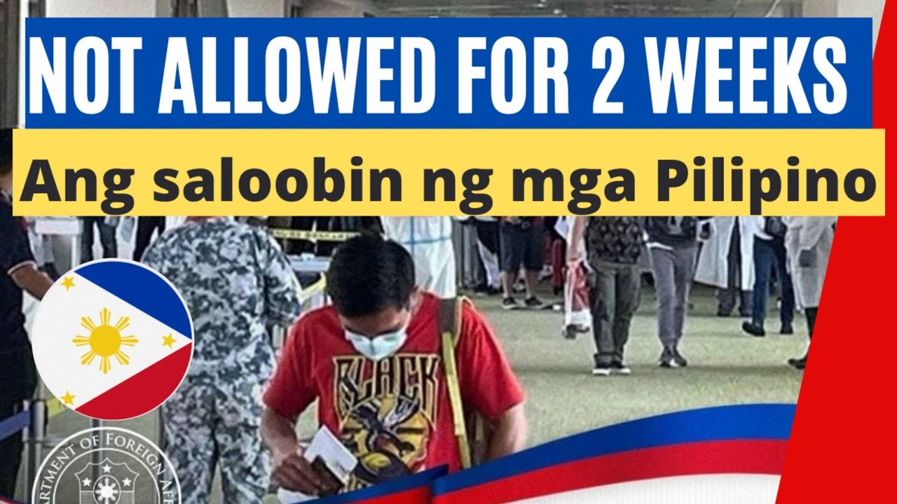 NEW TRAVEL ADVISORY FOR ALL PASSENGERS TO THE PHILIPPINES effective May 15 (OFWs & Non-Ofws Update)