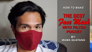 THE BEST FACE MASK with Filter Pocket | Easy & Simple Sewing tutorials |  FREE Pattern