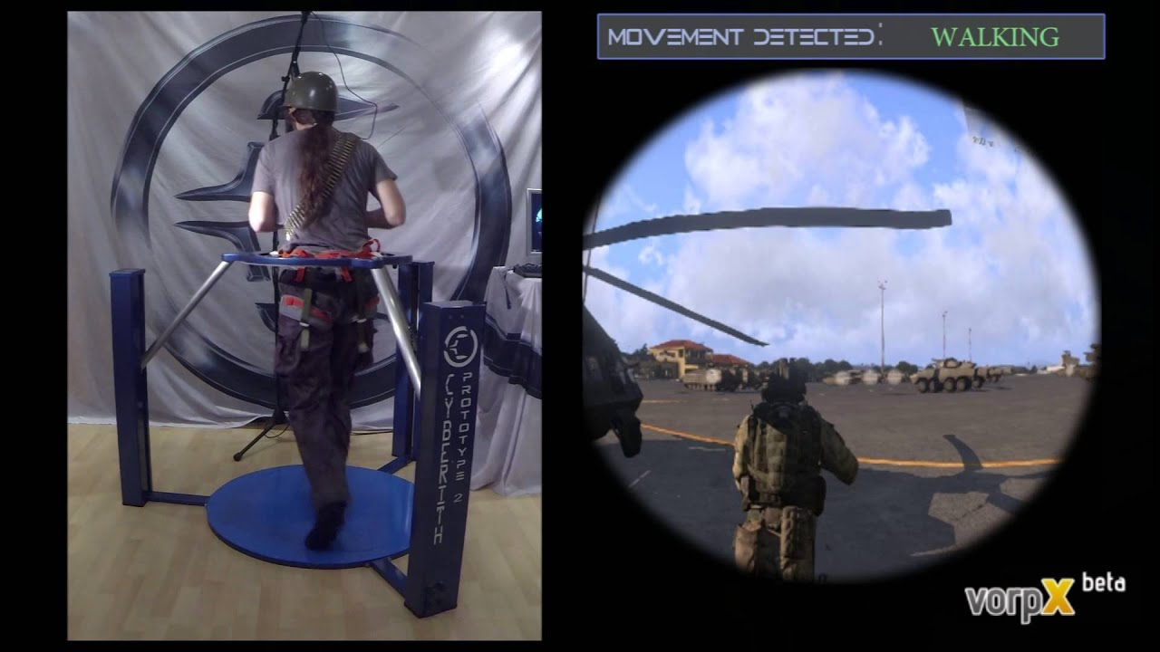 Arma 3 in VR demonstrated with the Cyberith Virtualizer | PC Invasion