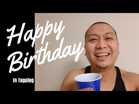 How To Say Happy Birthday In Tagalog Let S Filipino Youtube