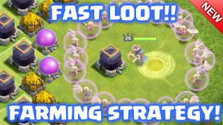 Clash of Clans - Farming Strategy for Fast and Easy LOOT! *Super Queen HogBarch*