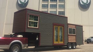 "24' ""whittle Wagon"" Tiny House On Gooseneck Trailer"