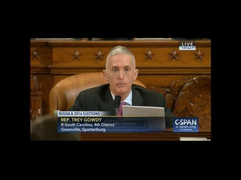 Rep. Gowdy questions Director Comey during Intelligence hearing - Part One