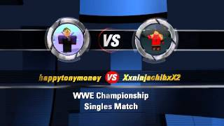 ROBLOX WWE Match Card #1