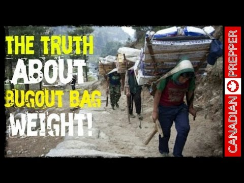 The Truth About Bug Out Bag Weight