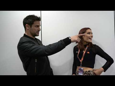 Torrance talks  with Brant Daugherty