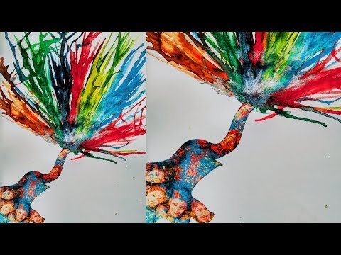 Creative Art & Craft ideas for Kids | Blow Painting Technique | NewsPaper Art