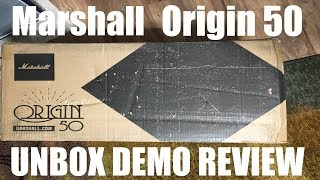 Marshall Origin 50 Unbox, Review and Demo