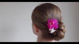 Repeat youtube video 三つ編みで作ったシンプルなまとめ髪