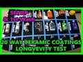 UPDATE 00: 20 way ceramic coating synthetic Wax longevity test Perfection Correction LLC