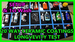 UPDATE 00: 20 way ceramic coating synthetic Wax longevity test Perfection Correction LLC