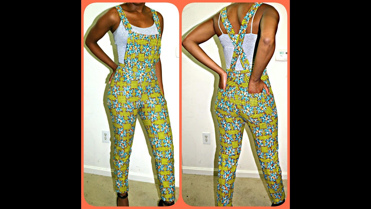 Diy Pintrest African Print Jumper Dungaree Youtube